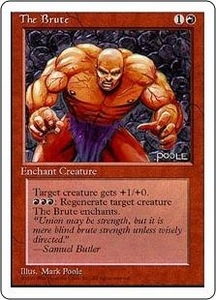 Magic the Gathering Fourth Edition Single Card Common The Brute