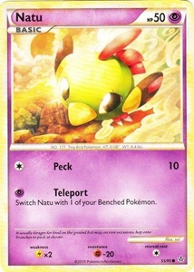 Pokemon Legend: HS Unleashed Single Card Common #55 Natu