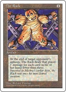 Magic the Gathering Fourth Edition Single Card Uncommon The Rack