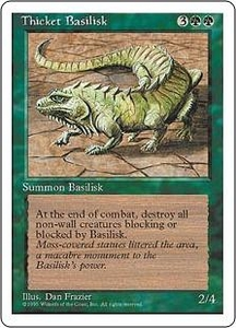 Magic the Gathering Fourth Edition Single Card Uncommon Thicket Basilisk