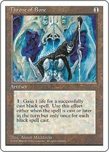 Magic the Gathering Fourth Edition Single Card Uncommon Throne of Bone