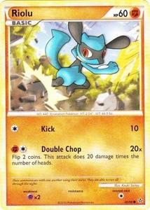 Pokemon Legend: HS Unleashed Single Card Common #60 Riolu