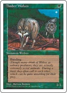 Magic the Gathering Fourth Edition Single Card Rare Timber Wolves