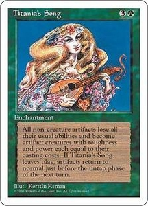 Magic the Gathering Fourth Edition Single Card Rare Titania's Song