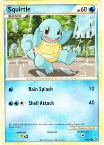 Pokemon Legend: HS Unleashed Single Card Common #63 Squirtle