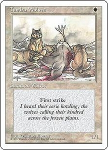Magic the Gathering Fourth Edition Single Card Common Tundra Wolves