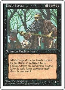Magic the Gathering Fourth Edition Single Card Uncommon Uncle Istvan
