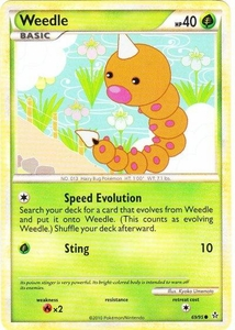 Pokemon Legend: HS Unleashed Single Card Common #69 Weedle