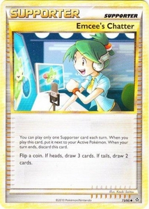 Pokemon Legend: HS Unleashed Single Card Uncommon #73 Emcee's Chatter