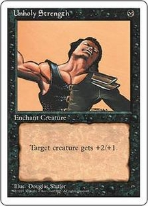 Magic the Gathering Fourth Edition Single Card Common Unholy Strength