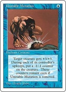 Magic the Gathering Fourth Edition Single Card Common Unstable Mutation