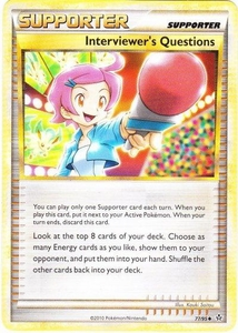 Pokemon Legend: HS Unleashed Single Card Uncommon #77 Interviewer's Questions