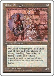 Magic the Gathering Fourth Edition Single Card Rare Urza's Avenger