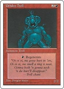 Magic the Gathering Fourth Edition Single Card Uncommon Uthden Troll