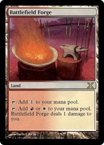 Magic the Gathering Tenth Edition Single Card Rare #348 Battlefield Forge