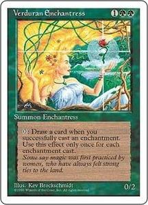 Magic the Gathering Fourth Edition Single Card Rare Verduran Enchantress