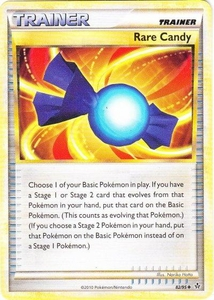 Pokemon Legend: HS Unleashed Single Card Uncommon #82 Rare Candy