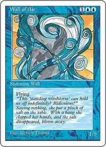 Magic the Gathering Fourth Edition Single Card Uncommon Wall of Air