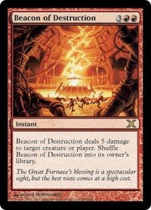 Magic the Gathering Tenth Edition Single Card Rare #189 Beacon of Destruction