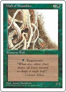 Magic the Gathering Fourth Edition Single Card Uncommon Wall of Brambles