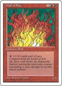 Magic the Gathering Fourth Edition Single Card Uncommon Wall of Fire
