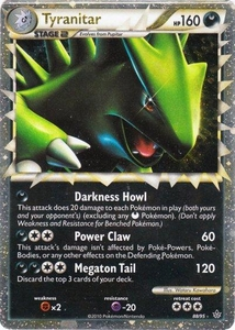 Pokemon Legend: HS Unleashed Single Card Super LEGEND Rare #88 Tyranitar