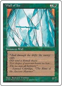 Magic the Gathering Fourth Edition Single Card Uncommon Wall of Ice