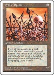 Magic the Gathering Fourth Edition Single Card Common Wall of Spears