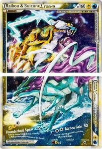Pokemon Legend: HS Unleashed Single Card Rare Holo LEGEND [Set of Both Cards] #92 & 93 Raikou & Suicune LEGEND