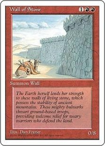 Magic the Gathering Fourth Edition Single Card Uncommon Wall of Stone