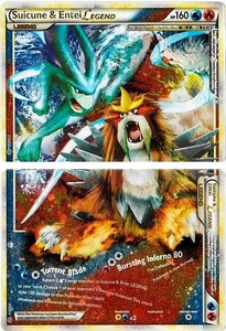 Pokemon Legend: HS Unleashed Single Card Rare Holo LEGEND [Set of Both Cards] #94 & 95 Suicune & Entei LEGEND