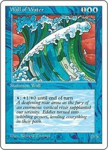 Magic the Gathering Fourth Edition Single Card Uncommon Wall of Water