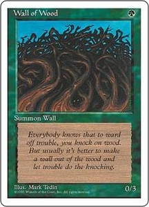Magic the Gathering Fourth Edition Single Card Common Wall of Wood