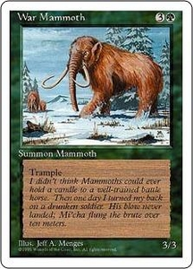 Magic the Gathering Fourth Edition Single Card Common War Mammoth