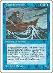 Magic the Gathering Fourth Edition Single Card Uncommon Water Elemental