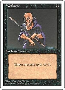 Magic the Gathering Fourth Edition Single Card Common Weakness