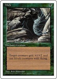 Magic the Gathering Fourth Edition Single Card Rare Web