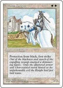 Magic the Gathering Fourth Edition Single Card Uncommon White Knight