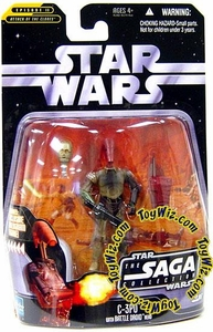 Star Wars Saga 2006 Basic Action Figure #17 C-3PO with Battle Droid Head
