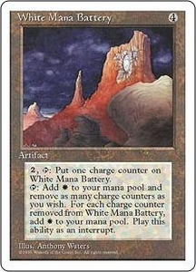 Magic the Gathering Fourth Edition Single Card Rare White Mana Battery