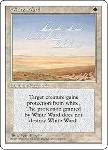 Magic the Gathering Fourth Edition Single Card Uncommon White Ward