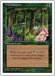 Magic the Gathering Fourth Edition Single Card Common Wild Growth