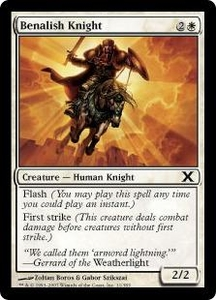 Magic the Gathering Tenth Edition Single Card Common #11 Benalish Knight