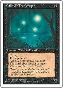 Magic the Gathering Fourth Edition Single Card Rare Will-o'-the-Wisp