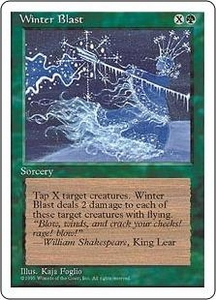 Magic the Gathering Fourth Edition Single Card Uncommon Winter Blast