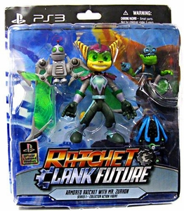 DC Direct Ratchet and Clank Future Series  1 Action Figure Armored Ratchet & Mr. Zurkon