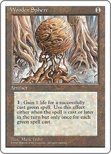 Magic the Gathering Fourth Edition Single Card Uncommon Wooden Sphere