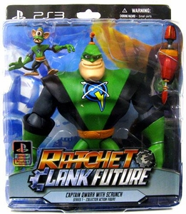 DC Direct Ratchet and Clank Series 1 Action Figure Captain Quark & Scrunch