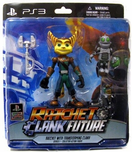 DC Direct Ratchet and Clank Future Series  1 Action Figure Ratchet & Transforming Clank