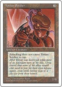 Magic the Gathering Fourth Edition Single Card Common Yotian Soldier